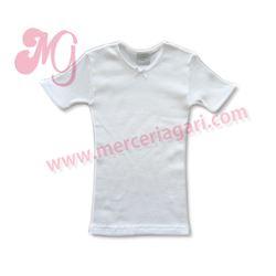 "Camiseta interior niña canalé m/c ""105-095"" - diacar"