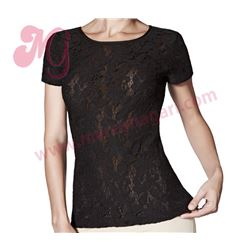 """Camiseta sra. m/c blonda + tul """"m/c atenea"""" - janira"""