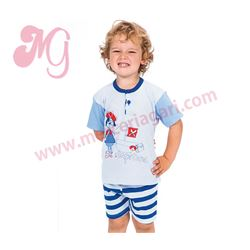 "Pijama niño m/c p/c 100% alg. pirata ""152000"""