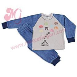 "Pijama niño m/l puño tundosado space invader ""63009"" - cocuy"