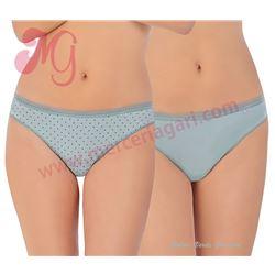 "Pack-2 bragas bikini algodón lisa + estamapada ""333"" - avet"
