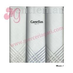 """Pack-3 pañuelos cro. blanco + listas """"s-1403"""" - canellas"""