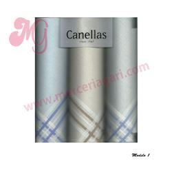 """Pack-3 pañuelos cro. color + listas """"s-1055"""" - canellas"""