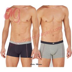 "Pack-2 boxer cro. liso + estampado ""198"" - set"