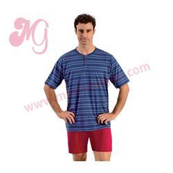 """Pijama cro. m/c pc 100% alg. rayas """"96817"""" - kler"""