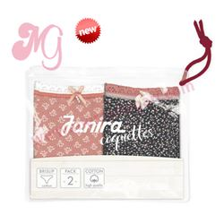 "Pack-2 bragas floral salmon + pixels marino ""p2 brislip sweet coque. cotton"" - janira"