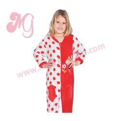 """Pijama manta niña rojo + gris """"141906"""" - muslher"""