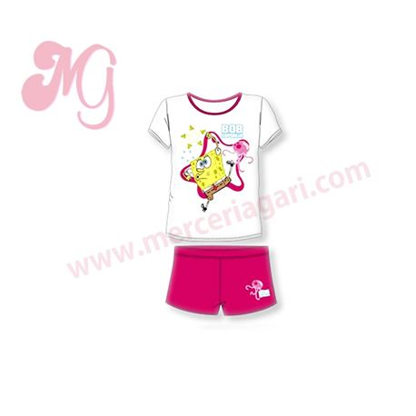 """Pijama niña m/c p/c """"42-30040"""" - bob esponja"""
