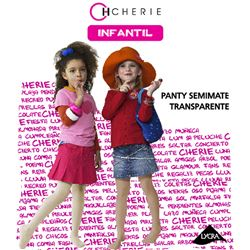 """Panty niña trasparente 20den """"5427"""" - cherie"""
