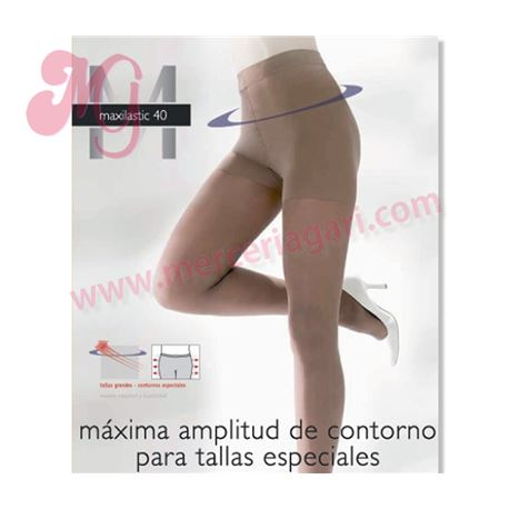 """Panty sra. 40den tallas especiales """"maxilastic 40""""- janira"""