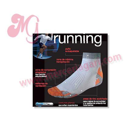 """Calcetín microfibra """"74290 - runing"""" - punto blanco"""