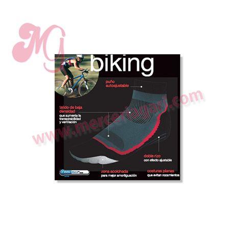 "Calcetín microfibra ""74292 - biking"" - punto blanco"