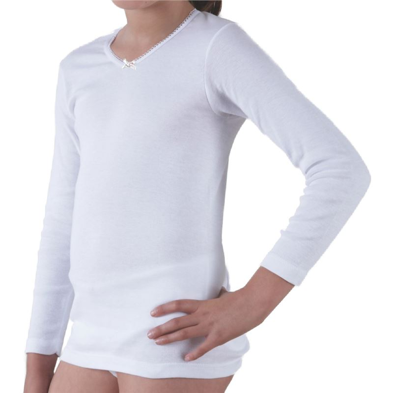 distribuidor mayorista 0a18f 1dc63 Camiseta interior niña m/l
