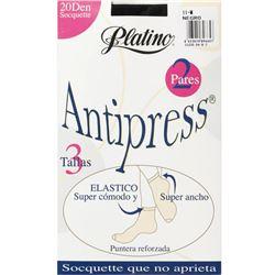 """Calcetín media tobillero 20 den antipress """"33320"""" - platino"""