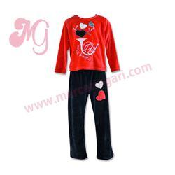"""Pijama niña tundosado m/l p/l """"66040- love music"""" - cocuy"""