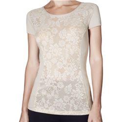 "Camiseta sra. m/c blonda + modal ""sicilia modal""- janira"