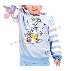 """Pijama niño fino m/l p/l puño 100% alg. """"152007"""" - muslher"""