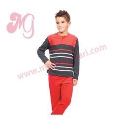 """Pijama niño m/l p/l 100% alg. rayas """"153011"""" - muslher"""
