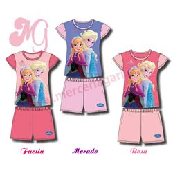 "Conjunto pijama niña m/c p/c ""frozen-33904"" - disney"