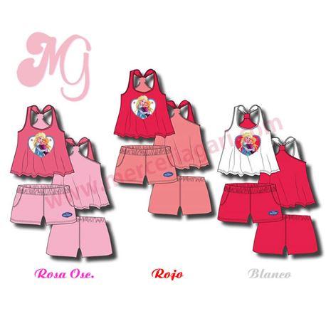 "Conjunto pijama niña s/manga p/c ""frozen-33908"" - disney"