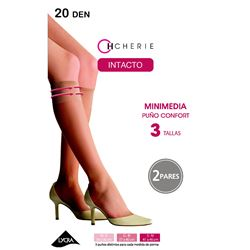 "Mini media sra. 2pares 20den goma confort ""3485-intacto"" - cherie"