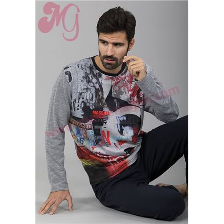 "Pijama cro. m/l p/l estampado ""651305"" - massana"