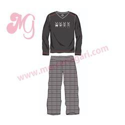 """Pijama cro. m/l p/l tundosado """"5201-gayumbos"""" - kukuxumusu"""