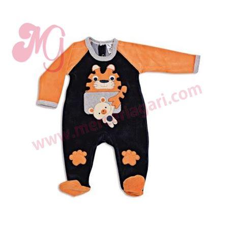 "Pelele bebe m/l tundosado tigre ""50646"" - cocuy"