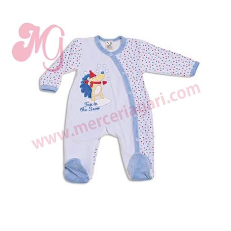 "Pelele bebe m/l tundosado oso ""50650"" - cocuy"