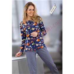 """Pijama sra. m/l p/l abierto 100% alg. """"erizo - 641238"""" - massana"""