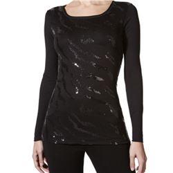 "Camiseta sra. m/l lentejuelas ""m/l art"" - janira"