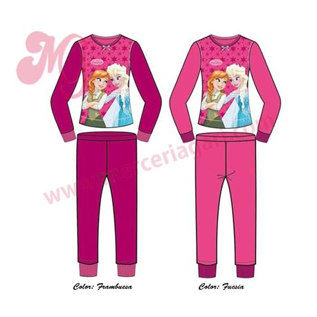 "Pijama niña m/l p/l polar puño frozen ""33438"""