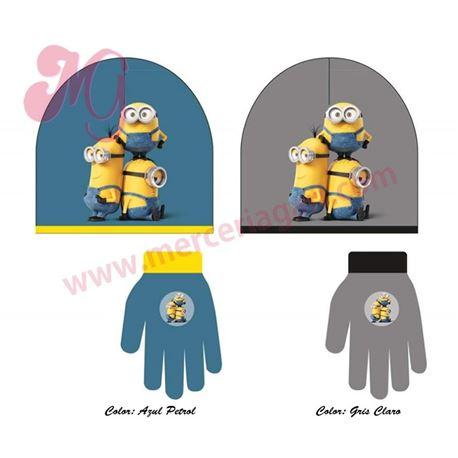 "Gorro + guantes minions ""882207"" - disney"