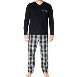 """Pijama cro. m/l p/l punto + tela """"wilson"""" - jan men"""