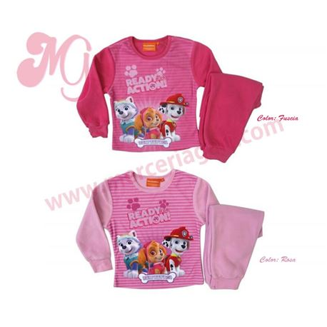 "Pijama niña m/l p/l puño polar patrulla canina ""33404"""