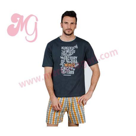 """Pijama cro. m/c p/c 100% alg. """"batwings- 5207"""" - kukuxumusu"""