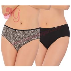 "Pack-2 bragas lisa + leopardo ""32337"" - avet"