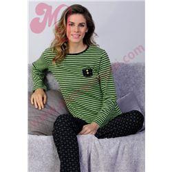 "Pijama sra. m/l p/l listas + corazones ""661217"" - massana"