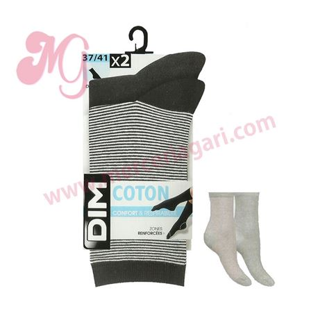 """Pack-2 calcetines sra. liso + rayas """"04cd"""" - dim"""