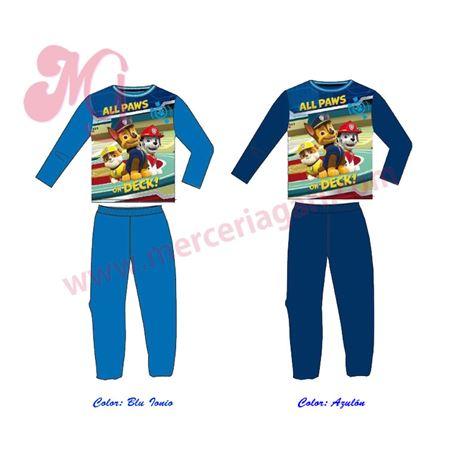 """Pijama niño m/l p/l 100% alg. patrulla canina """"94001"""""""