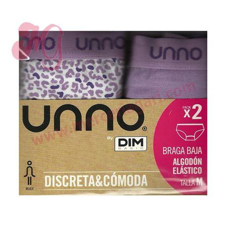 "Pack-2 braga baja leopardo + lisa ""um304"" - unno"