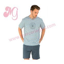 """Pijama cro. m/c p/c 100% alg. marinero """"10683"""" - set"""