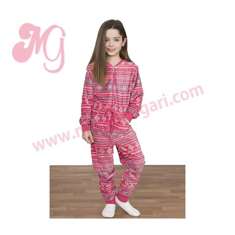d30d6ab8a Pijama manta niña sin pie grecas