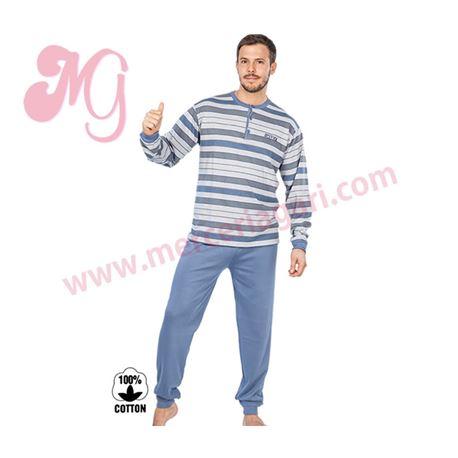 """Pijama cro. 100% alg. rayas """"175618"""" - muslher"""