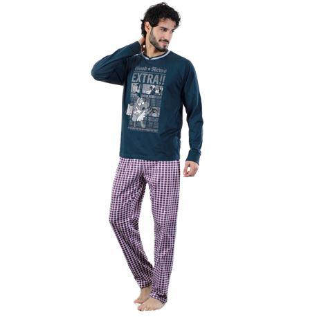 "Pijama cro. m/l 100% alg. ""5234-extra news"" - kukuxumusu"