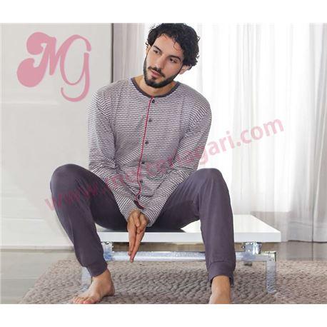 "Pijama cro. m/l p/l 100% alg. puño abierto ""96876"" - kler"