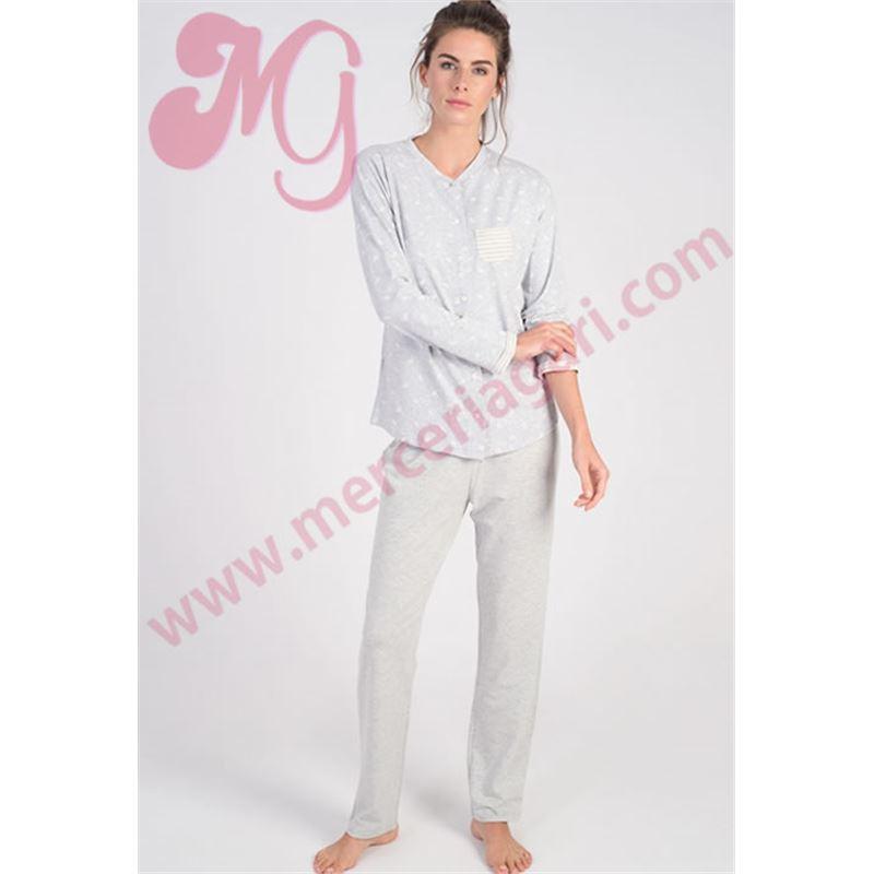 581e0b6c5c Pijama sra. abierto detalles rosas