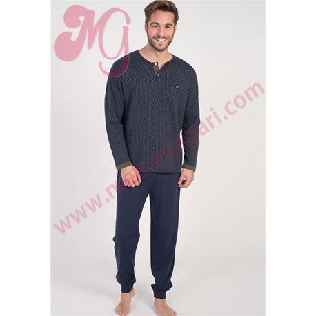 """Pijama cro. m/l p/l puño topitos """"671313"""" - massana"""