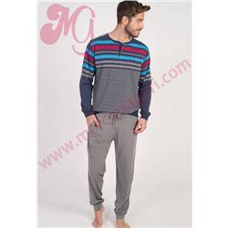 """Pijama cro. m/l p/l fino puño """"671316"""" - massana"""