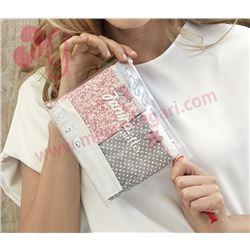 """Pack-2 bragas topos + flores """"p2 brislip petite coque. cotton"""" - janira"""